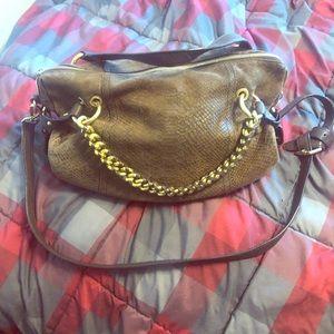 Michael kors snake skin embossed hobo bag